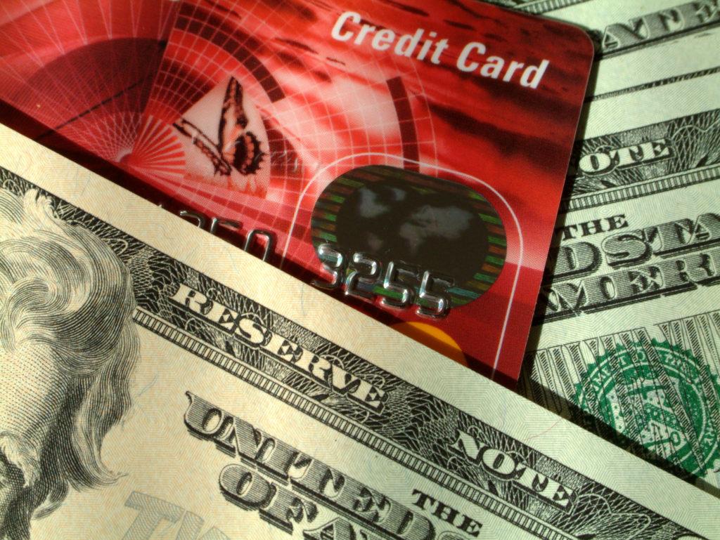 US dollars and credit card