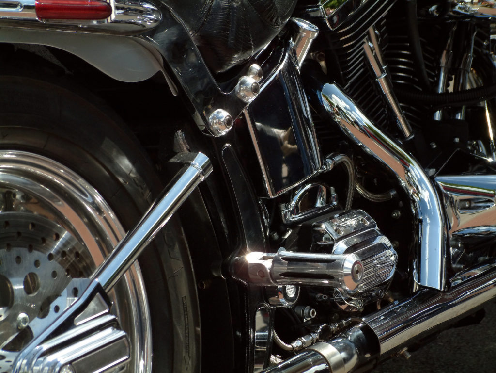 Shiny bike details